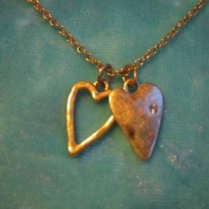 Chloe and Isabel Take Heart Necklace_Gold